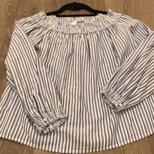 New rag and Bone jean blue striped shirt